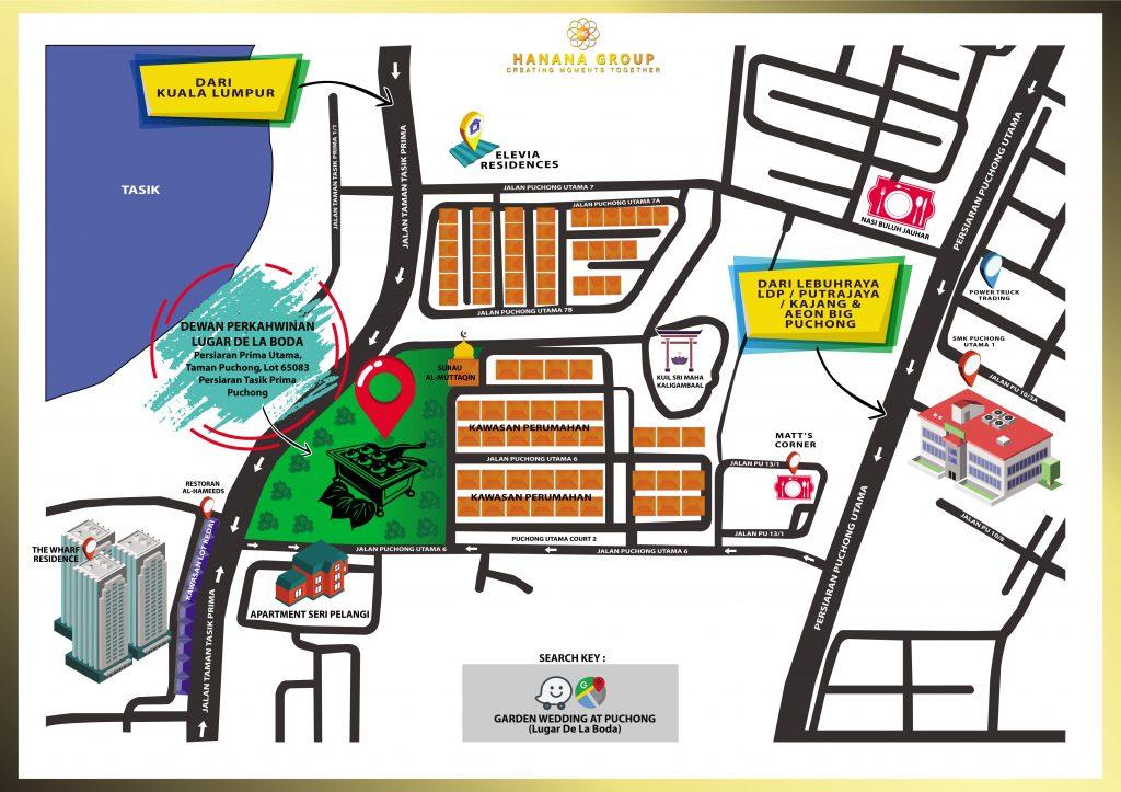 Peta Untuk Ke Dewan Perkahwinan Kami Di Ambassador Dan Lugar De La Boda